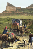 Covered Wagon of a Homesteader Family Heading West with their Belongings