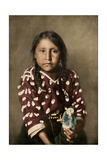 Crow Indian Girl Glydis Littlenest  or Rides-A-Sorrel-Horse  circa 1900
