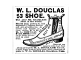 Advertisement for the Douglas $300 Men's Shoe  1887