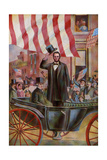 President Abraham Lincoln with Ex-President James Buchanan in the Inaugural Parade  March 4  1861
