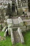 Remains of Latrine  Roman Bathhouse in Fort at Chesters Along Hadrian's Wall  Northumbria  England
