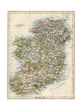 Map of Ireland  or Eire  1870s