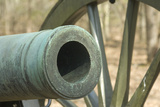 Muzzle of a Civil War Smoothbore Cannon  Shiloh National Military Park  Tennessee