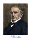 William Ewart Gladstone  with His Signature