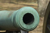 Muzzle of a Civil War Rifled Cannon  Shiloh National Military Park  Tennessee