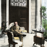 Cecil John Rhodes  British Colonial Administrator  on His Verandah Near Cape Town  C 1900