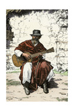"Argentinian ""Gaucho Cantor "" or Cowboy Guitar-Player of the Pampas  1800s"