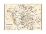 City Plan of Ancient Rome Giclée