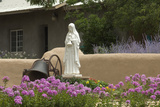 Saint Clare Statue  St Francis of Assisi Churchyard  Ranchos De Taos  New Mexico