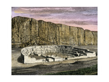 Restoration of Pueblo Bonito  Ancestral Puebloan/Anasazi Site in Chaco Canyon  New Mexico  1250 AD