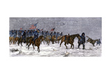 General Custer's Cavalry Marching to Attack a Cheyenne Village on the Great Plains  1868