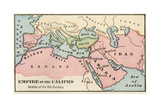 Empire of the Arab Caliphs  Middle of the 8th Century
