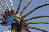 Statue of a Native Chichimeca Dancer Near the Plaza De La Independencia  Queretaro  Mexico