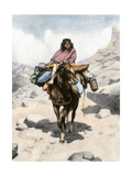 Tehuelche Woman on Horseback in Patagonia  1800s