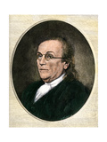 Benjamin Franklin Wearing Eyeglasses