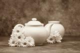 Teapot and Daisies I