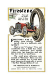 Advertisement for Firestone Tire and Rubber Company  1912
