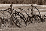 Antique Wagon Wheels I