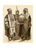 Syrian Man (Left)  Woman of Damascus  and an Arab from Baghdad