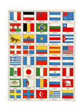 Flags of Forty Countries About 1890