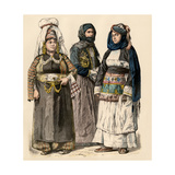Kurdish Woman (Left)  and Women from Preveza and Chios