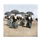 Sisters of Charity Arriving on Long Island  at Camp Wikoff During the Spanish-American War  1898