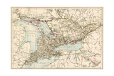 Map of Ontario  Canada  1870s