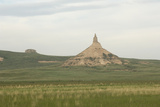 Chimney Rock  a Landmark on the Oregon Trail  Nebraska