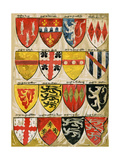 Shields of English Knights and Barons  Painted During the Reign of Edward Iii