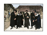 John Calvin and the Four Syndics Founding the Seminary Which Became the College of Geneva  1559