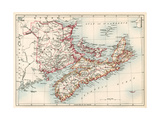 Map of Nova Scotia  Prince Edward Island  and New Brunswick  1870s