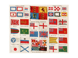 Maritime Identification Ensigns: Britain  Spain  Japan  Russia  America  Tripoli  Tunis  Zanzibar