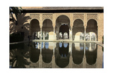 The Palacio Del Portico Within the Alhambra  a Medieval Moorish City in Granada  Spain