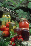 Traditional Homemade Pickles  Tomatoes  and Fruit Jam