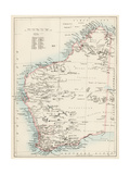 Map of Western Australia  1870s