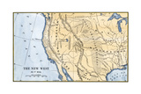 Map of the Western Frontier in the United States  1800s