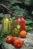 Traditional Home-Preserved Pickles and Tomatoes