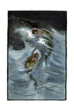 "Two Mermaids Playing in the Waves  ""A Nixie's Legend"""