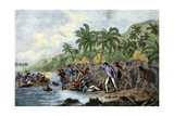 Death of English Explorer Captain James Cook in the Sandwich Islands (Hawaii)  1779