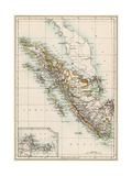 Map of Sumatra  1870s