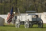 Wagons in a Civil War Camp Reenactment  Shiloh National Military Park  Tennessee