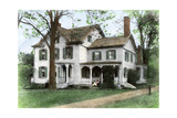 "Birthplace of Grover Cleveland: ""The Manse "" in Caldwell  New Jersey"