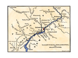 Map of the Philadelphia Area  Valley Forge  and the Brandywine