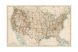 United States Map  1870s