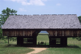 Wagon in a Cantilevered Barn  Cades Cove  Great Smoky Mountains National Park  Tennessee