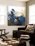 Art abstrait bleu Toile Murale Géante par Meejlau