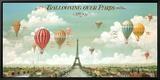 Vol en ballon au dessus de Paris Tableau sur toile encadré par Isiah And Benjamin Lane