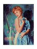 1950s UK Womens Story Illustrations Magazine Plate