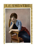 1910s France Le Theatre Magazine Cover