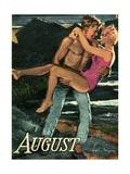 1950s UK August Romance Magazine Plate